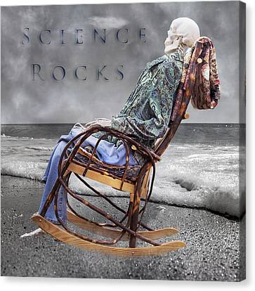 Beach Chair Canvas Print - Science Rocks by Betsy Knapp