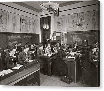 History Of Science Canvas Print - Science Students by The Miriam And Ira D. Wallach Division Of Art, Prints And Photographs: Photography Collection/new York Public Library
