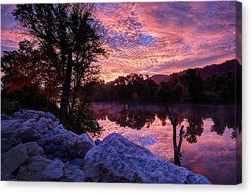 Canvas Print featuring the photograph Scioto Sunrise by Jaki Miller