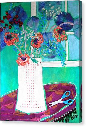 Scissors Canvas Print by Diane Fine