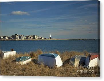 Scituate Harbor Boats Canvas Print by Amazing Jules