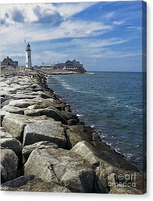 Nautical Canvas Print - Scituate Light by Carol Sutherland