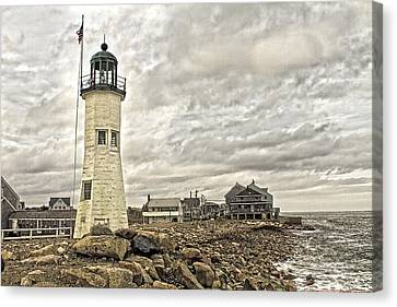 Canvas Print featuring the photograph Scituate Lighthouse by Constantine Gregory