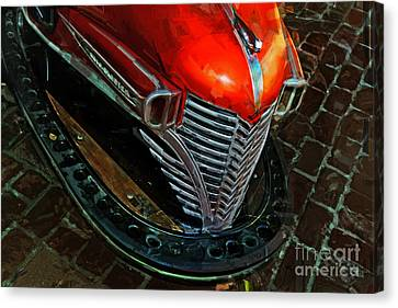 Scooter Canvas Print by Alan Greene