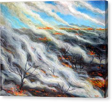 Scorched Earth, 2014, Oil On Canvas Canvas Print