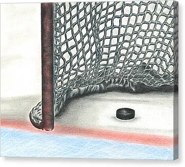 Nhl Hockey Canvas Print - Score by Troy Levesque