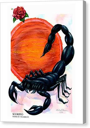 Scorpio Canvas Print by Michael Baum