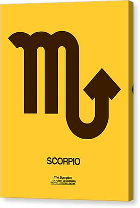 Cancer Canvas Print - Scorpio Zodiac Sign Brown by Naxart Studio