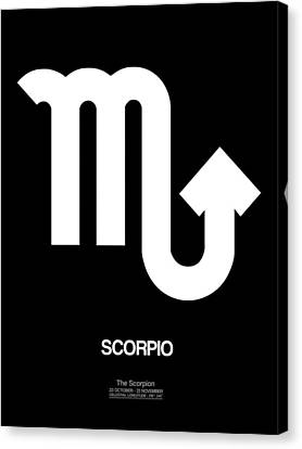 Scorpio Zodiac Sign White Canvas Print by Naxart Studio