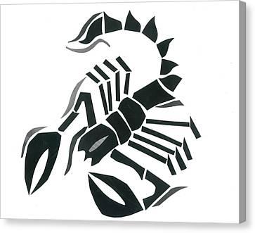 Scorpion Canvas Print by Earl ContehMorgan