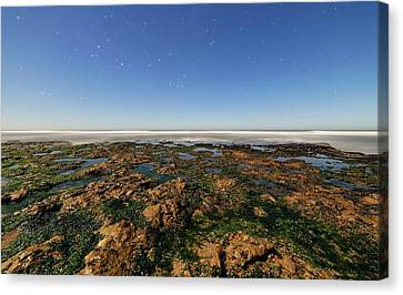 Sea Moon Full Moon Canvas Print - Scorpius Over Coast by Luis Argerich