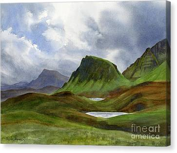 Stormy Skies Canvas Print - Scotland Highlands Landscape by Sharon Freeman