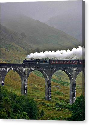Scotland Steam Train And Bridge Canvas Print
