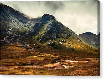 Scotland The Brave. Glencoe Canvas Print by Jenny Rainbow