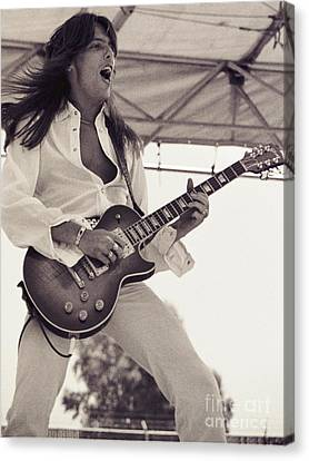 Daniel Canvas Print - Scott Gorham Of Thin Lizzy Black Rose Tour At Day On The Green 4th Of July 1979  by Daniel Larsen