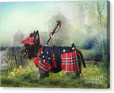 Scottie Of The Glen Canvas Print by Trudi Simmonds