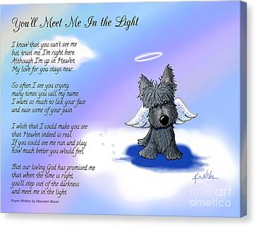 Scottie Terrier Angel And Poem Canvas Print by Kim Niles