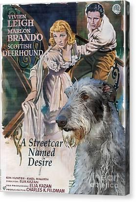 Scottish Deerhound Art - A Streetcar Named Desire Movie Poster Canvas Print by Sandra Sij
