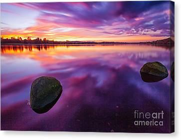 Scottish Loch At Sunset Canvas Print