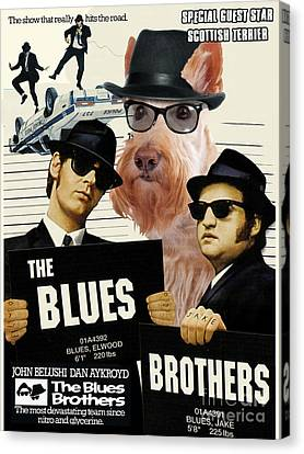 Scottish Terrier Art Canvas Print - The Blues Brothers Movie Poster Canvas Print