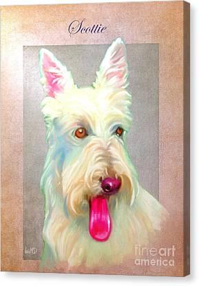 Scottish Dog Canvas Print - Scottish Terrier Art by Iain McDonald