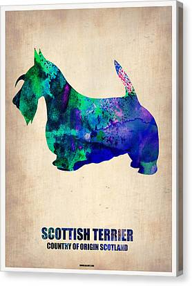 Scottish Terrier Poster Canvas Print by Naxart Studio
