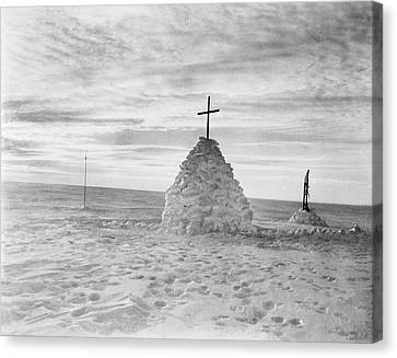 Scott's Polar Party Burial Cairn Canvas Print by Scott Polar Research Institute