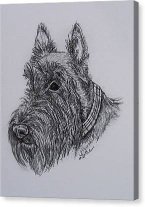 Scotty Dog Canvas Print