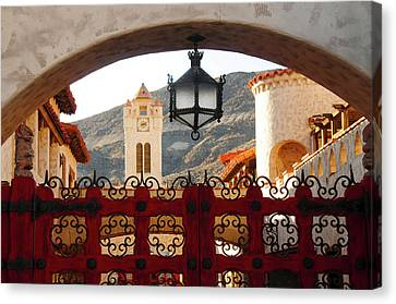 Scotty's Castle, Grapevine Mountains Canvas Print by Michel Hersen