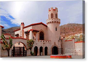 Scotty's Castle Canvas Print by Kathleen Struckle