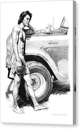 Scout Canvas Print by Douglas Simonson