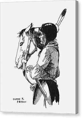 Scout Canvas Print by Duane R Probus