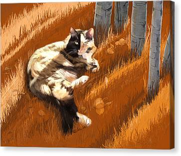 Scout In Autumn Canvas Print