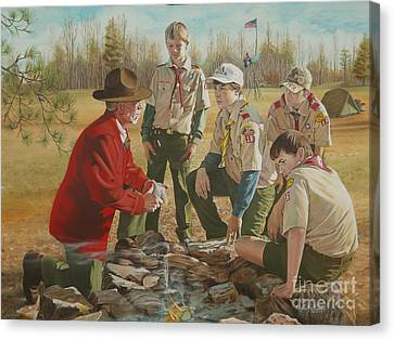Scout Master's Legacy Canvas Print by Angela S Williams