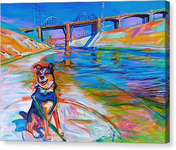 Scout The River Guard Canvas Print