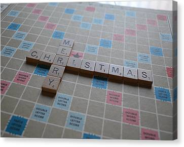Scrabble Merry Christmas Canvas Print