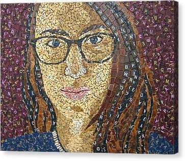 Scrabble Tile Portrait Canvas Print