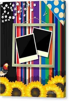 Scrapbook Frame Canvas Print by Richard Laschon