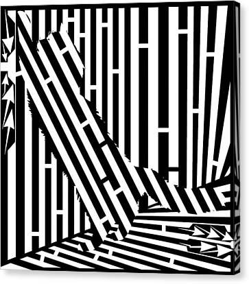 Scratching Cat Maze Canvas Print by Yonatan Frimer Maze Artist