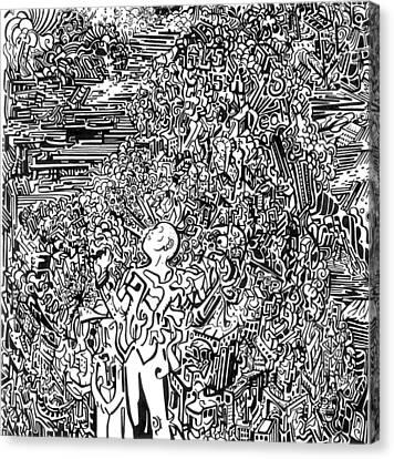 Scream Canvas Print by Zachary Worth