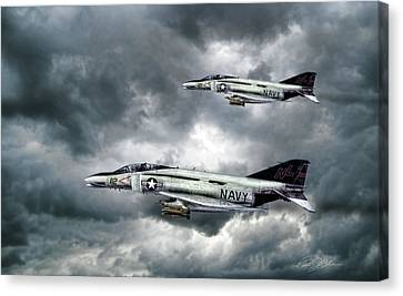 Screaming Eagles Canvas Print by Peter Chilelli