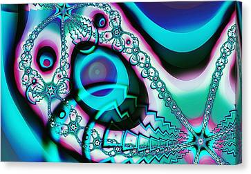 Screaming Ghost Canvas Print by Anastasiya Malakhova