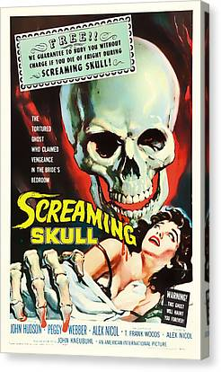 Screaming Skull Movie Poster 1958 Canvas Print by Mountain Dreams