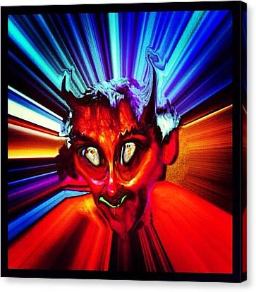 Screwtape - A Younger Novice Devil Canvas Print by Urbane Alien