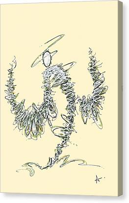 Scribble Angel 3 Canvas Print