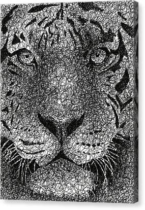 The Tiger Hunt Canvas Print - Scribble Tiger by Nathan Shegrud