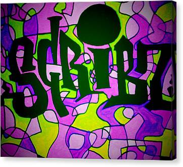 Scribz Nyc Funktified Canvas Print