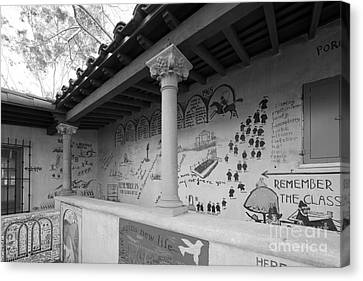 Scripps College Graffiti Wall Canvas Print by University Icons