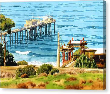 Scripps Pier La Jolla Canvas Print by Mary Helmreich