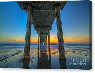 Scripps Pier Sunset Canvas Print